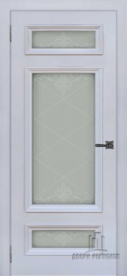 Дверь межкомнатная Неаполь 3 Серый шелк (Ral 7047)