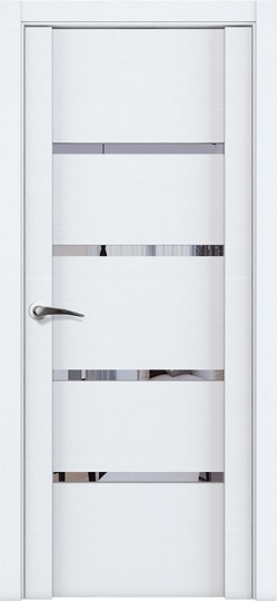 Дверь межкомнатная UniLine 30020 Зеркало Белый велюр