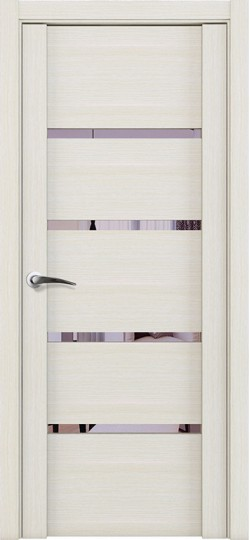 Дверь межкомнатная UniLine 30020 Зеркало Капучино велюр