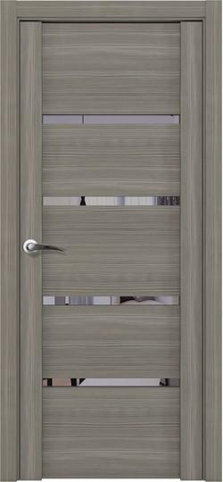 Дверь межкомнатная UniLine 30020 Зеркало Велюр графит