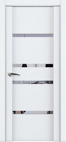 Дверь межкомнатная UniLine 30021 Зеркало Белый велюр