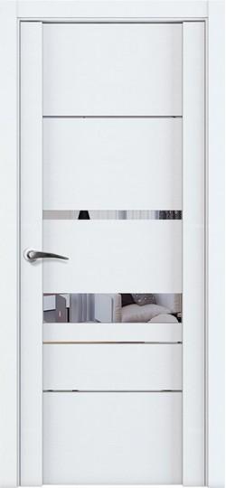 Дверь межкомнатная UniLine 30023 Зеркало Белый велюр