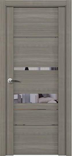 Дверь межкомнатная UniLine 30023 Зеркало Велюр графит