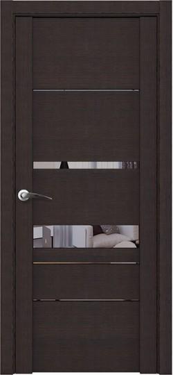 Дверь межкомнатная UniLine 30023 Зеркало Шоко велюр
