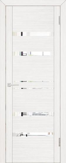 Дверь межкомнатная UniLine 30030 Зеркало Белый велюр