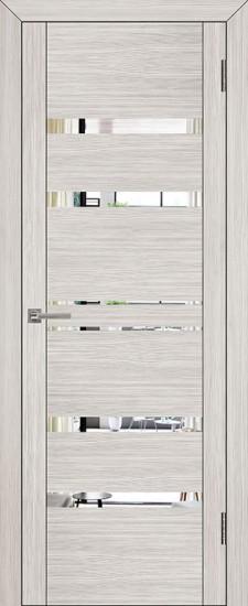 Дверь межкомнатная UniLine 30030 Зеркало Капучино велюр
