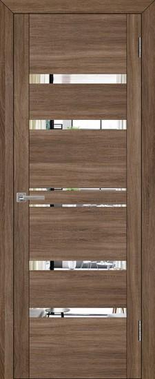 Дверь межкомнатная UniLine 30030 Зеркало Серый велюр