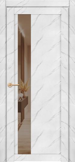 Дверь межкомнатная UniLine Mramor 30004/1 Marable Soft Touch Монте Белый