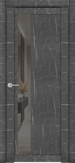 Дверь межкомнатная UniLine Mramor 30004/1 Marable Soft Touch Торос Графит