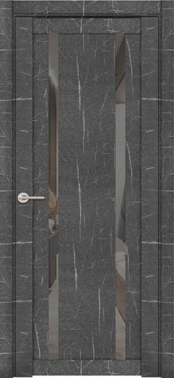 Дверь межкомнатная UniLine Mramor 30006/1 Marable Soft Touch Торос Графит