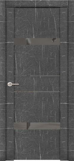 Дверь межкомнатная UniLine Mramor 30036/1 Marable Soft Touch Торос Графит