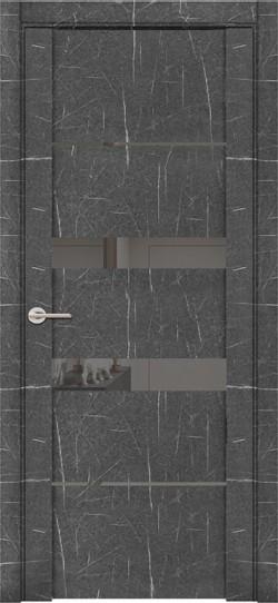 Дверь межкомнатная UniLine Mramor 30037/1 Marable Soft Touch Торос Графит