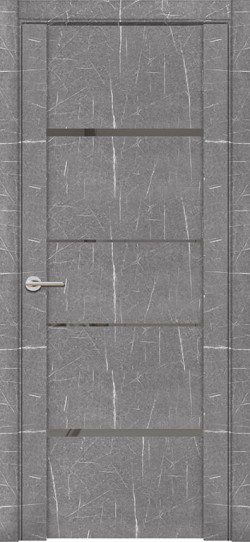 Дверь межкомнатная UniLine Mramor 30039/1 Marable Soft Touch Торос Серый